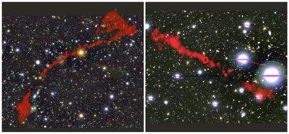 Dos bestias cósmicas aumentan el saber sobre las radiogalaxias gigantes