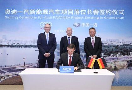 Audi crea una nueva empresa conjunta en China para producir coches eléctricos con FAW