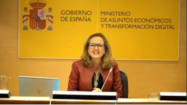 La vicepresidenta tercera, Nadia Calviño.
