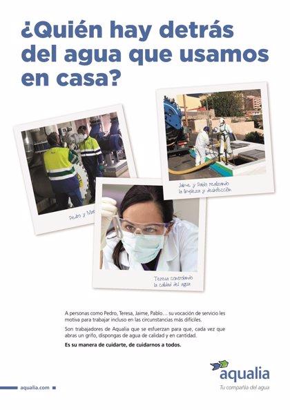 Agua.- Aqualia, premiada por una campaña de comunicación sobre abastecimiento durante la pandemia