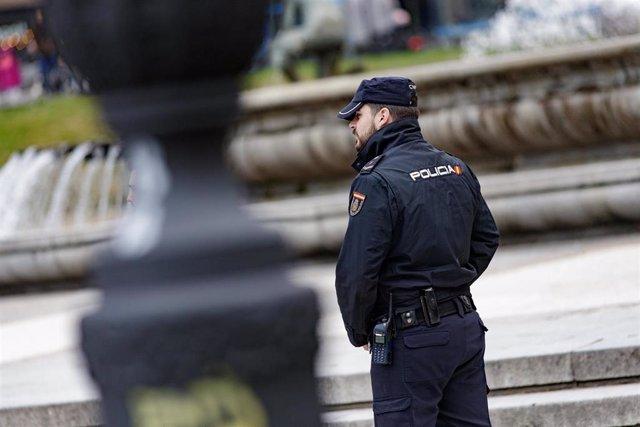 Un agente de la Policía Nacional en una imagen de archivo