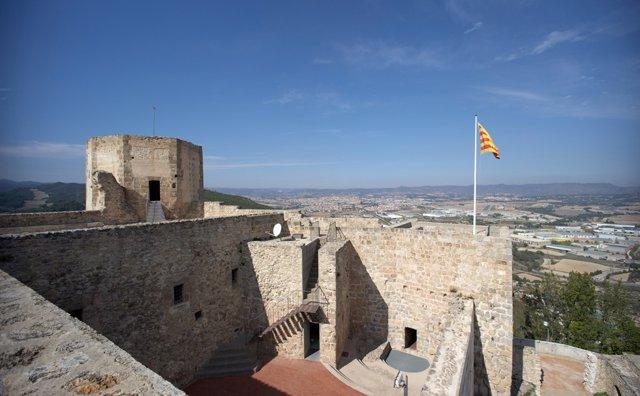 Imatge del Castell de Claramunt, situat al municipi de la Pobla de Claramunt, a Barcelona.