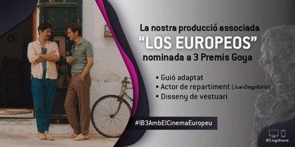 La coproducción de IB3 'Los Europeos' recibe tres nominaciones a los Premios Goya