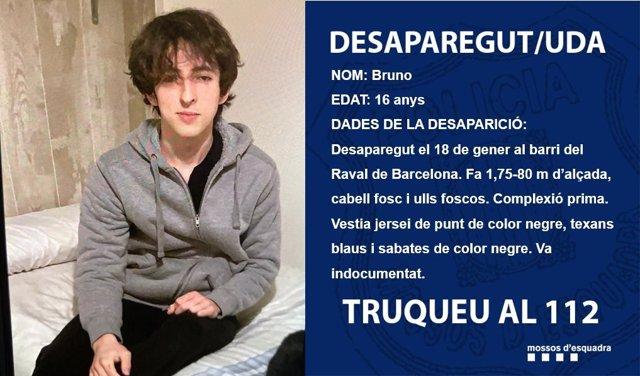 El joven desaparecido en el Raval.