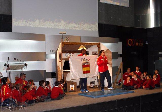 Una de las acciones de la campaña Todos Olímpicos del COE
