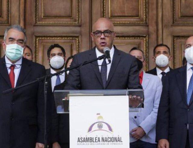 El presidente de la Asamblea Nacional de Venezuela, Jorge Rodríguez