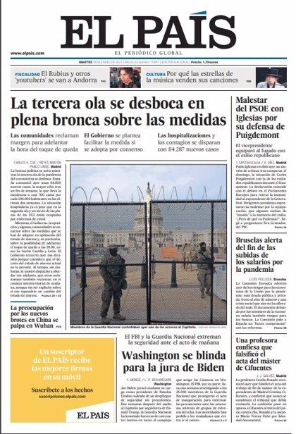 Las portadas de los periódicos del martes 19 de enero de 2021