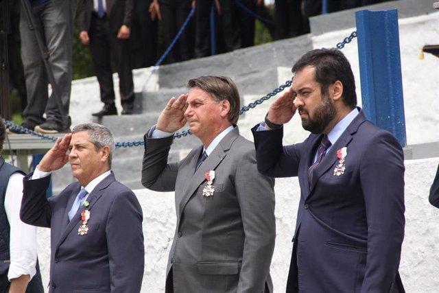 El presidente de Brasil, Jair Bolsonaro, durante un acto de graduación de la Policía Militar en Río de Janeiro.