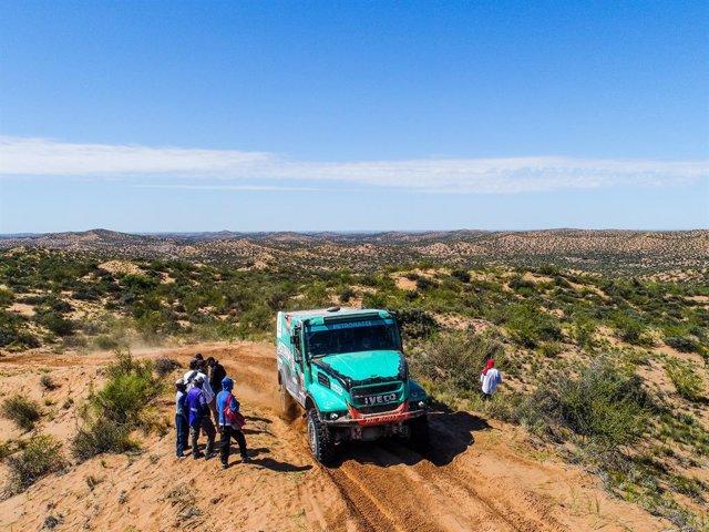 508 ARDAVICHUS ARTUR (KAZ), HUISMAN MICHEL (NLD), BRUYNKENS SERGE (BEL) Legende, IVECO, Camion, truck, action during the Dakar 2018, Stage 13 San Juan to Cordoba, Argentina, january 19 - Photo Frederic Le Floc'h / DPPI