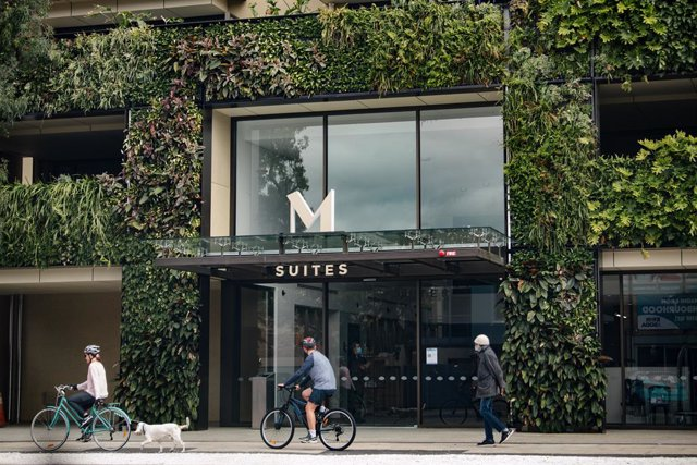 The M Suites accomodation in North Adelaide, Tuesday, January 19, 2021. Victoria's premier has bluntly rejected tennis star Novak Djokovic's reported demands to ease lockdown restrictions as the number of Australian Open competitors in quarantine reached
