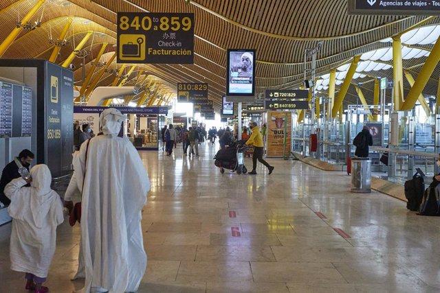 Terminal 4 de l'Aeroport Madrid-Barajas Adolfo Suárez. Madrid (Espanya), 12 de gener del 2021.