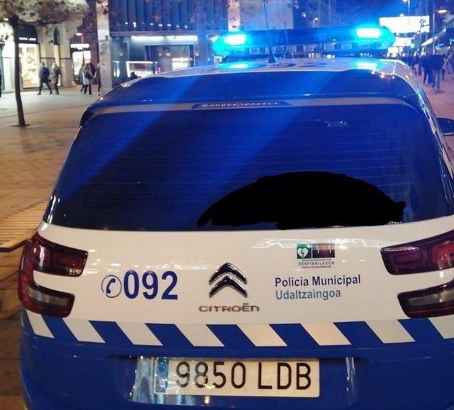 Vehículo de la Policía mUnicipal de Pamplona