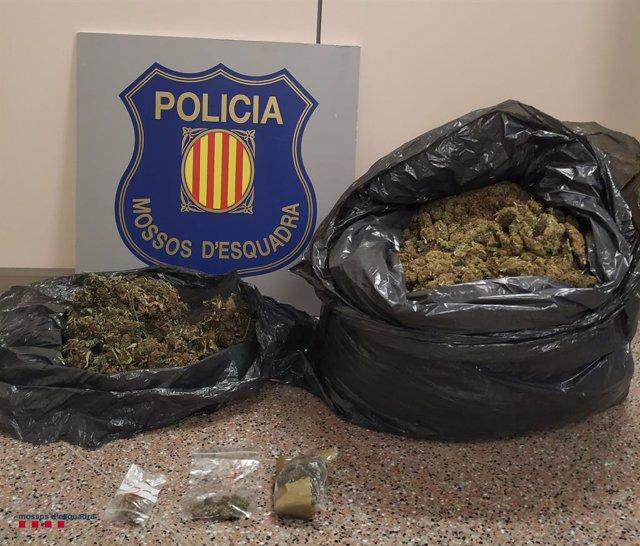 Arresten dos homes a Cunit (Tarragona) per transportar més de set quilos de cabdells de marihuana