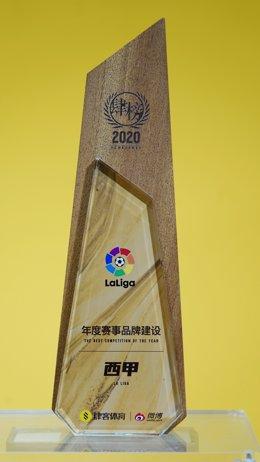 LaLiga ha sido elegida como Mejor Competición de 2020 en China.