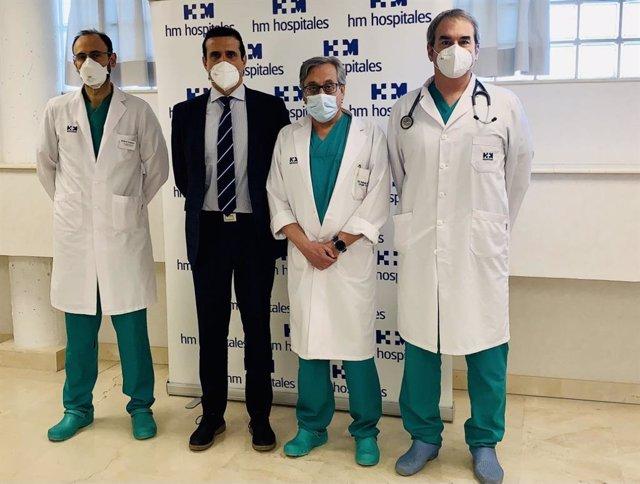 El Servicio de Cirugía Torácica realiza las primeras lobectomías uniportales en la sanidad privada de la Comunidad de Madrid
