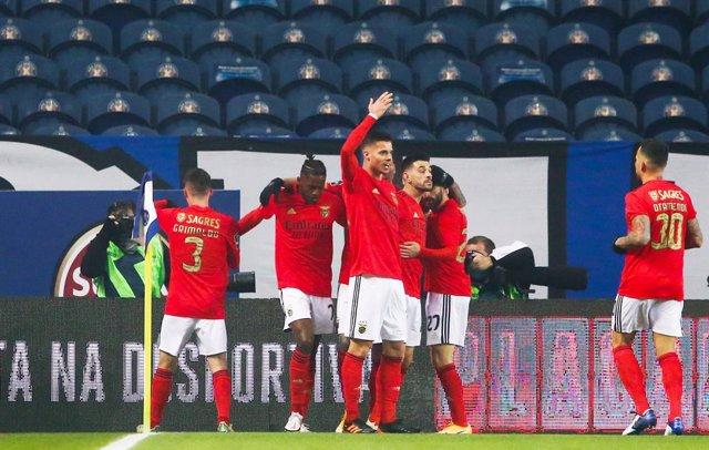 El Benfica celebra un gol