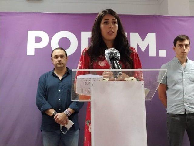 La síndica de Unides Podem en Les Corts, Naiara Davó