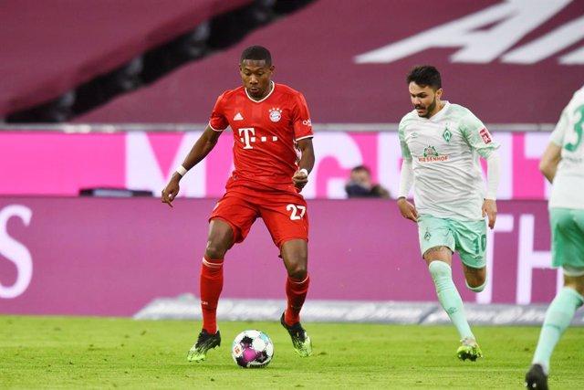 David Alaba en un partido de Bundesliga