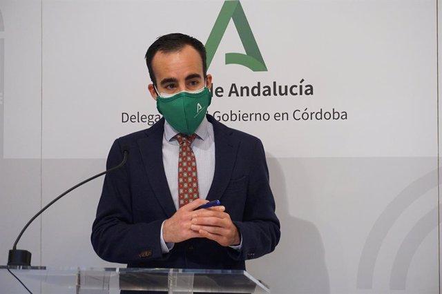 El delegado de Empleo de la Junta de Andalucía en Córdoba, Ángel Herrador, en una imagen de archivo.