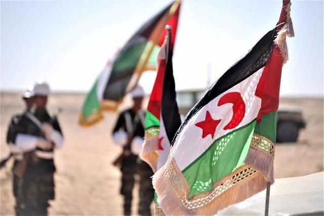Banderas de la autoproclamada República Árabe Saharaui Democrática (RASD)
