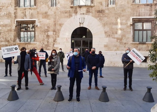 Protestas de la hostelería en image de archivo