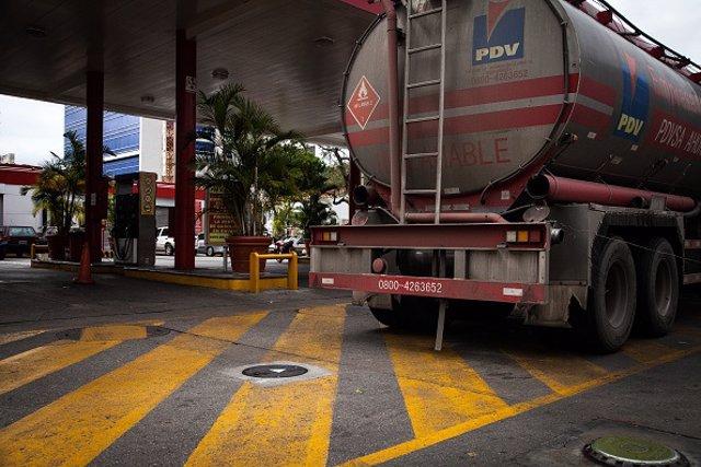 Imagen de archivo de un camión cisterna en Venezuela.