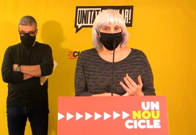La candidata de la CUP a la presidència de la Generalitat, Dolors Sabater