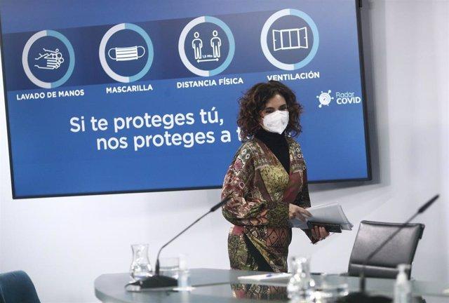 Ministra portavoz, María Jésus Montero