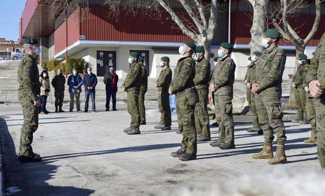 Varios militares procedentes de la Brigada Aragón I de Zaragoza