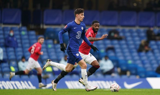 10 January 2021, England, London: Chelsea's Kai Havertz in action during the English FA Cup third round soccer match between Chelsea and Morcambe at Stamford Bridge. Photo: John Walton/PA Wire/dpa