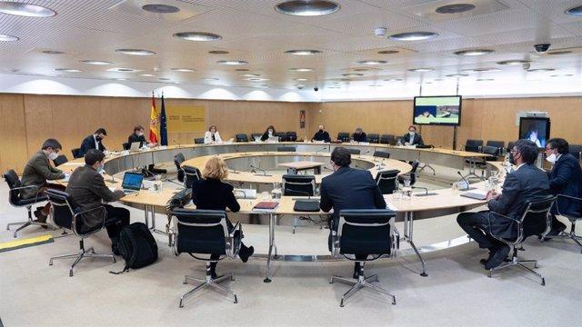 Tercera reunion técnica de la Mesa de Diálogo Social entre Gobierno y agentes sociales.