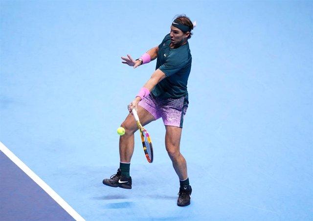Rafa Nadal durante las Finales de la ATP 2020 de Londres