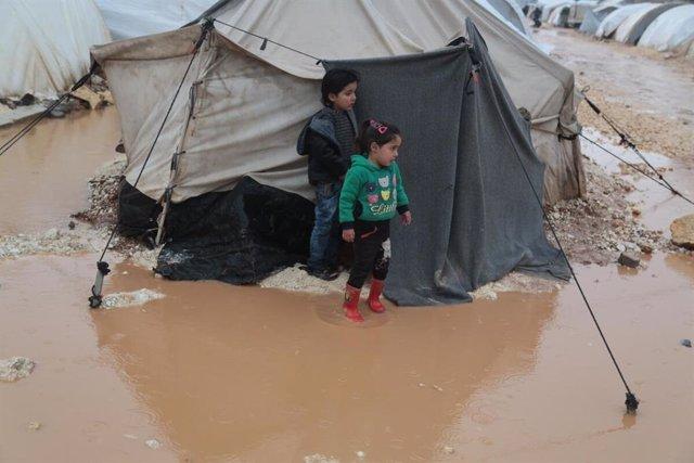 Imagen de las recientes inundaciones en Siria que han puesto en peligro a miles de desplazados.