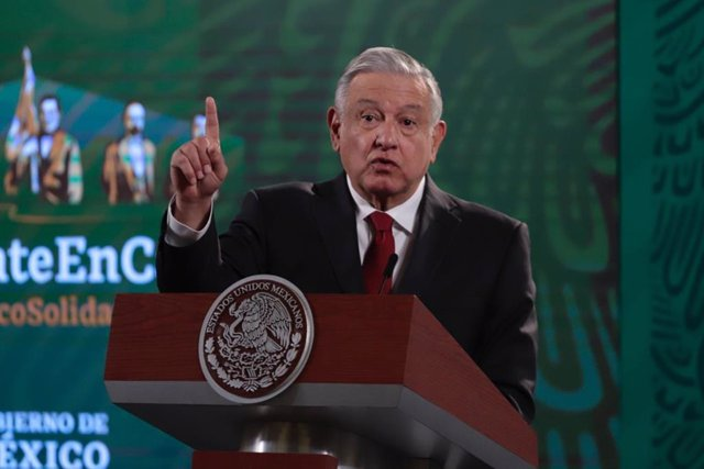 04 January 2021, Mexico, Mexico City: Mexican President Andres Manuel Lopez Obrador speaks during his daily press conference at the National Palace. Photo: -/El Universal via ZUMA Wire/dpa
