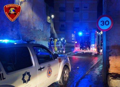 Fallece una persona y tres resultan heridas por inhalación de humo en un incendio en Calatayud
