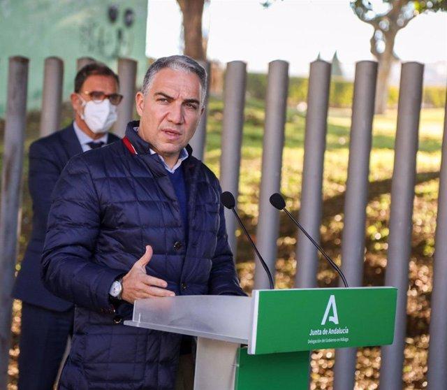 Foto de archivo del consejero de la Presidencia, Administración Pública e Interior de la Junta de Andalucía, Elías Bendodo, en Málaga