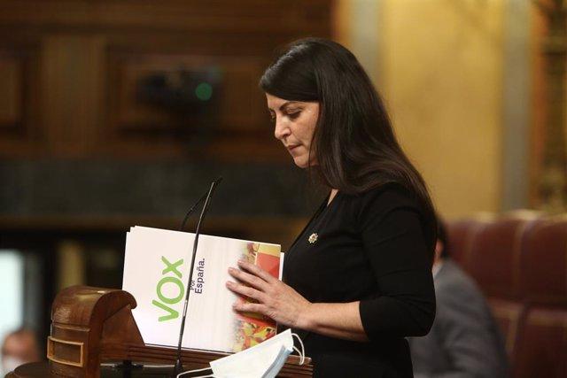 La secretària general de Vox al Congrés dels Diputats, Macarena Olona.