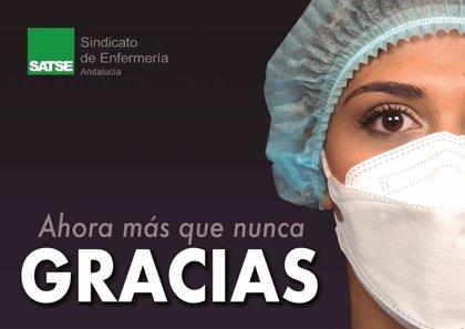 Satse inicia una campaña en Andalucía para agradecer el trabajo de enfermeras y fisioterapeutas frente al Covid