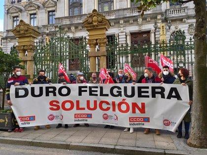 """Sindicatos y trabajadores piden a la SEPI que """"tome las riendas"""" de Duro Felguera"""