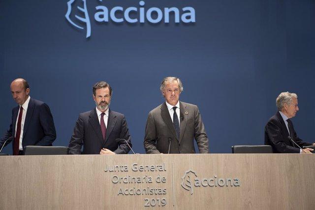 El presidente de Acciona, José Manuel Entrecanales, y su vicepresidente, Juan Ignacio Entrecanales