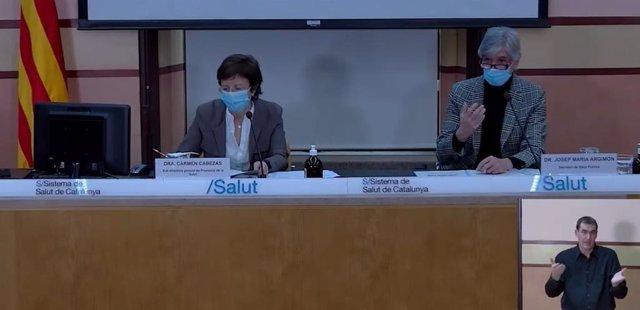 La sots-directora general de Promoció de la Salut Carme Cabezas i el secretari de Salut Pública Josep Maria Argimon