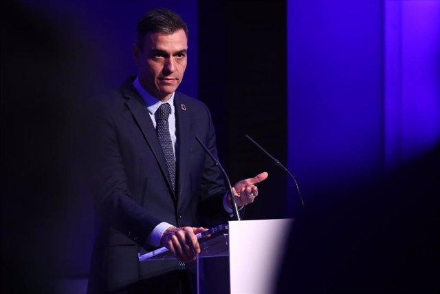 El presidente del Gobierno, Pedro Sánchez, participa en la 113ª Reunión del Consejo Ejecutivo de la Organización Mundial del Turismo (OMT), en Madrid, (España), a 19 de enero de 2021