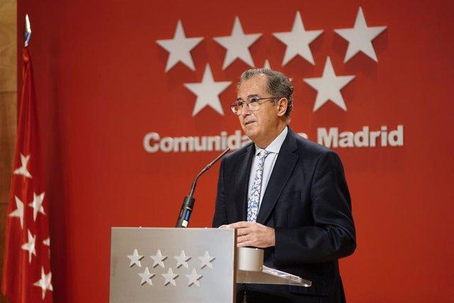 El consejero de Educación y Juventud, Enrique Ossorio