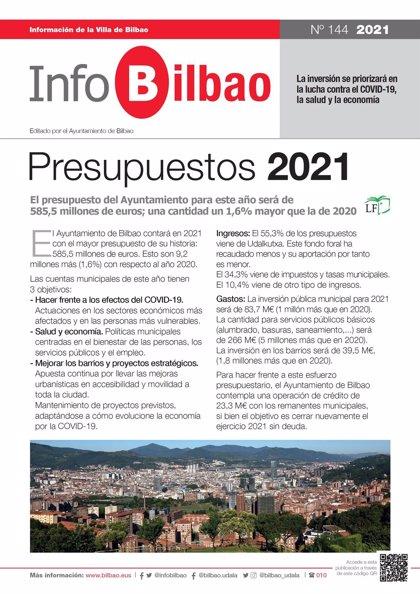 Bilbao buzonea un nuevo número de su boletín municipal, dedicado a los presupuestos