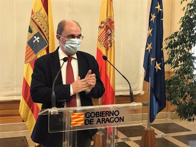 El presidente del Gobierno de Aragón, Javier Lambán, en una imagen de archivo.