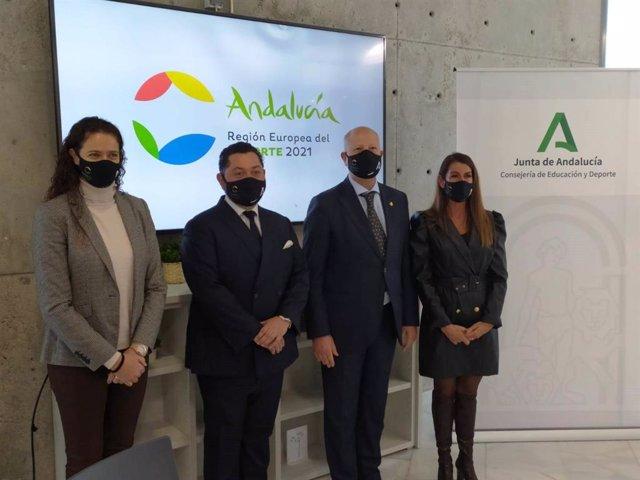 """Imbroda destaca el """"cambio"""" en la gestión para convertir a Andalucía en """"referente"""" del deporte a nivel internacional"""