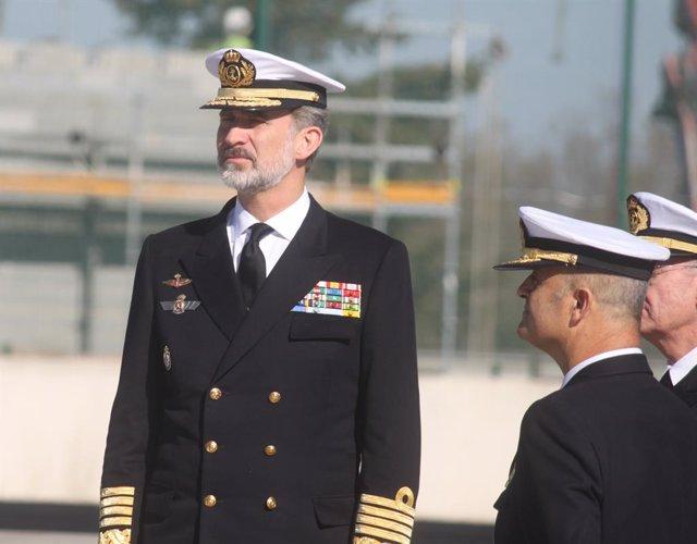 Imagen del Rey Felipe VI en su última visita a la provincia de Cádiz en noviembre de 2019