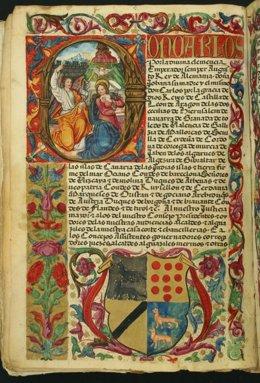 Pergamino minado de 1536 conservado en el Archivo Histórico Provincial