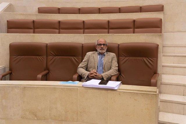 El consejero de Sanidad, Miguel Rodríguez, en el Parlamento