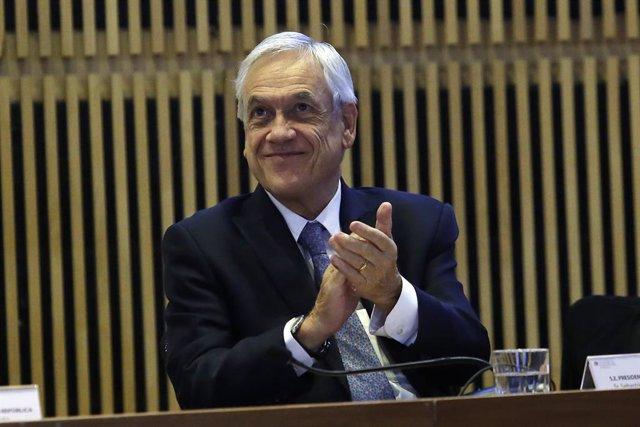 Sebastián Piñera en un acto nacional en Chile.